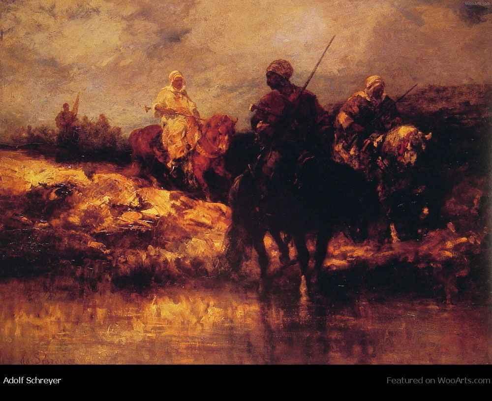 arabs-on-horseback-wooarts-com