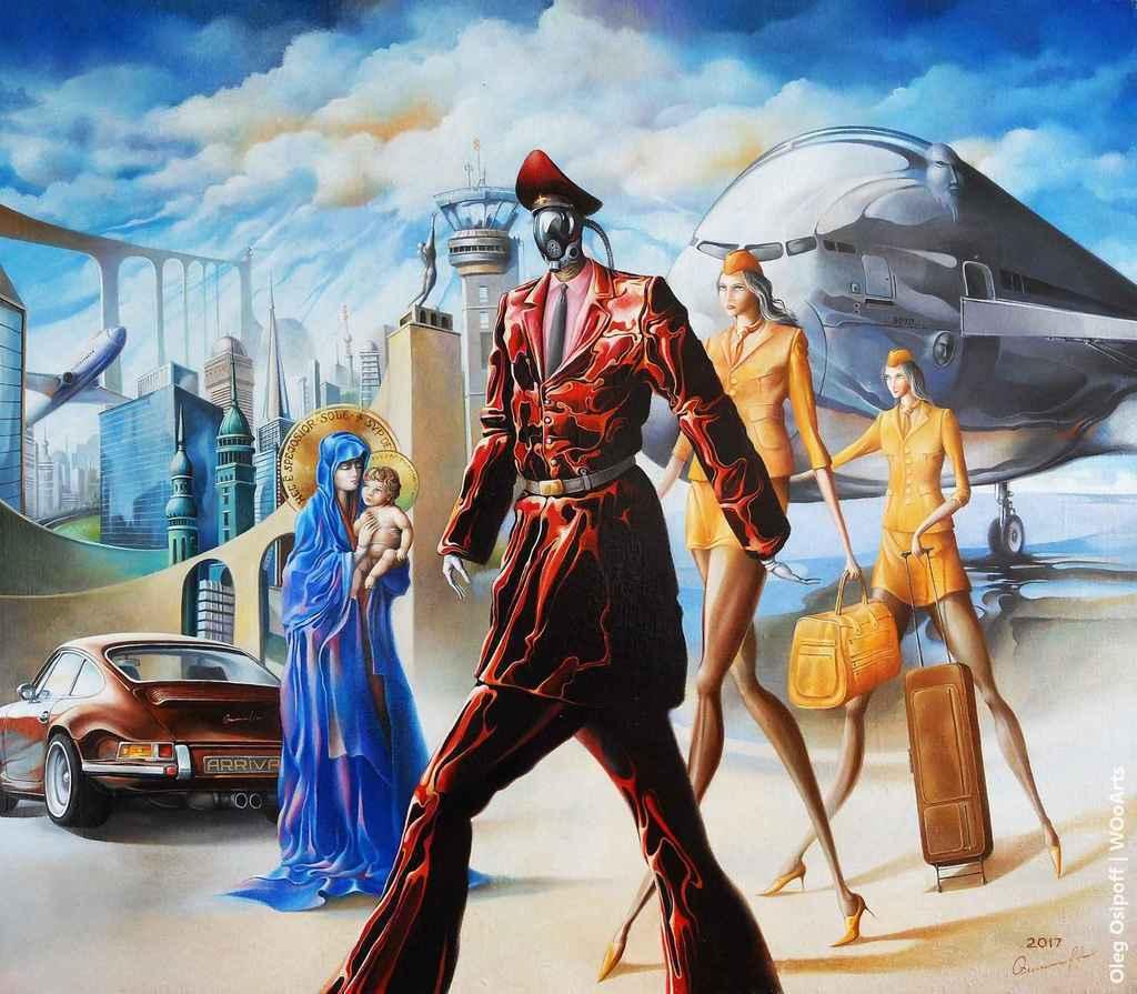Arrival Surrealism Paintings by Oleg Osipoff wooarts