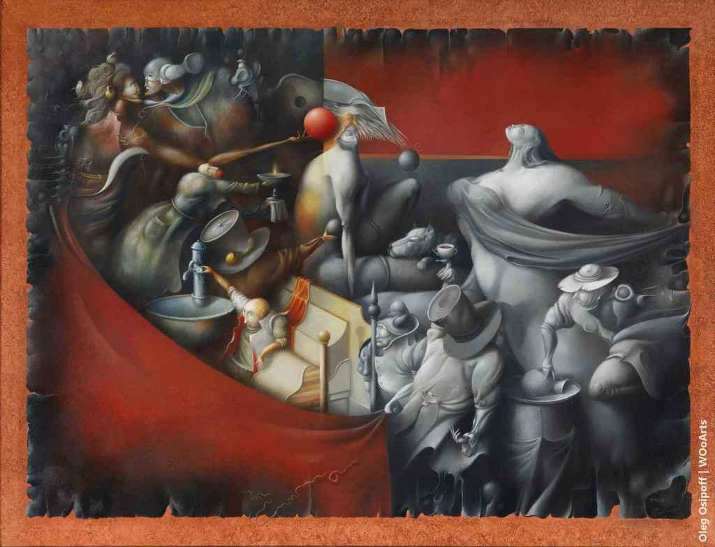 Awakening of Glafira Surrealism Paintings by Oleg Osipoff wooarts