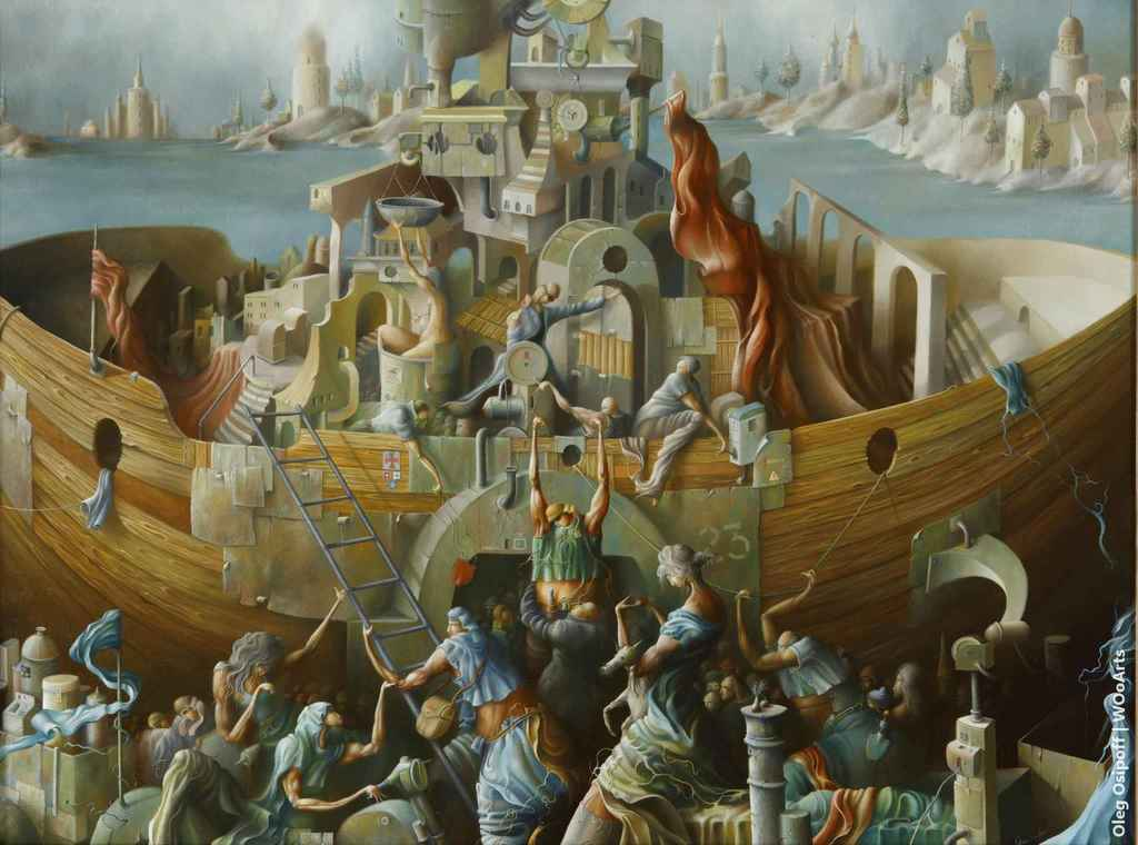Expedition Surrealism Paintings by Oleg Osipoff wooarts