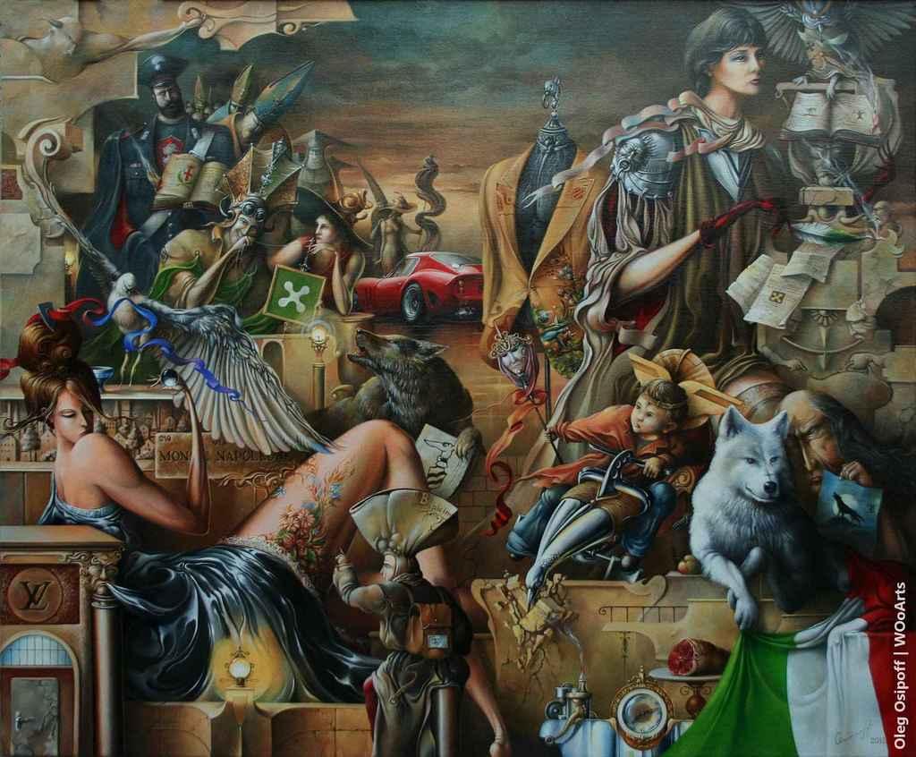 The New Tales of Milan Surrealism Paintings by Oleg Osipoff wooarts