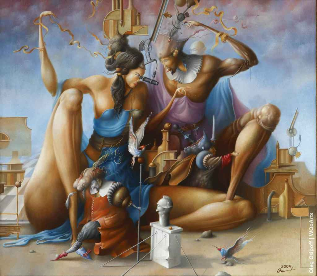 Montecchi and Capuletti Surrealism Paintings by Oleg Osipoff wooarts