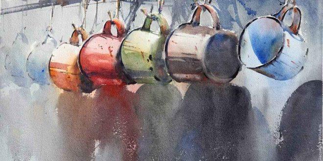 Painting Artist Antonio Giacomin at WOoArts