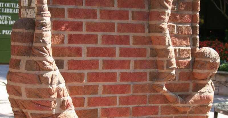 Brad Spencer Sculpture Brick Wall