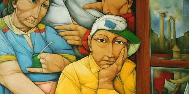 Artist Pablo Solari Painting