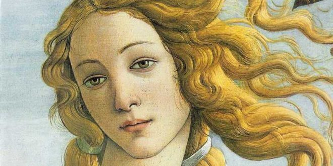 Venus Botticelli Painting Detail