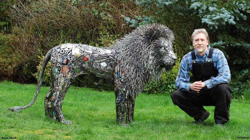 Artist Brian Mock Scrap Metal