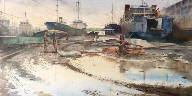 Dino Dante Kangleon Pajao Watercolor Painting