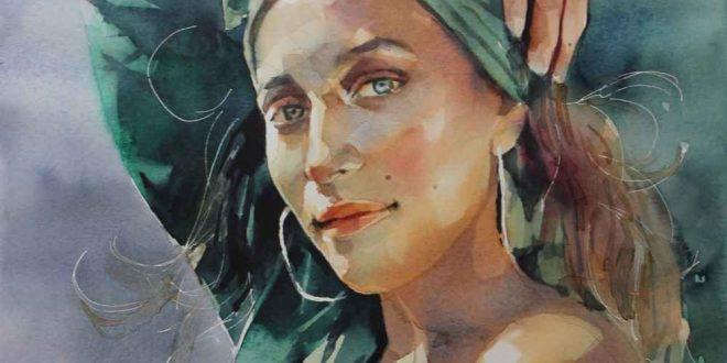 elena brazzale watercolor painting