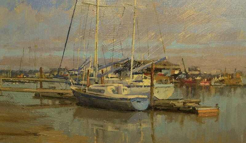Gillian Roberts Marine Oil Painting