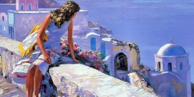 Artist Howard Behrens Painting
