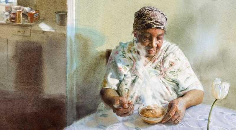 Mary Whyte Watercolor Painting