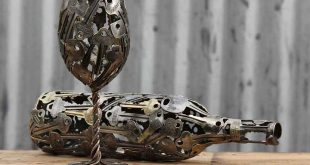 Unique Sculptures Made From Keys by Michael Moerkey   WOoArts© - Australia
