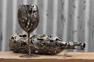 Unique Sculptures Made From Keys by Michael Moerkey | WOoArts© - Australia