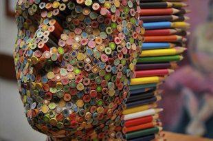 Colorful Pencil Sculpture By Molly Gambardella