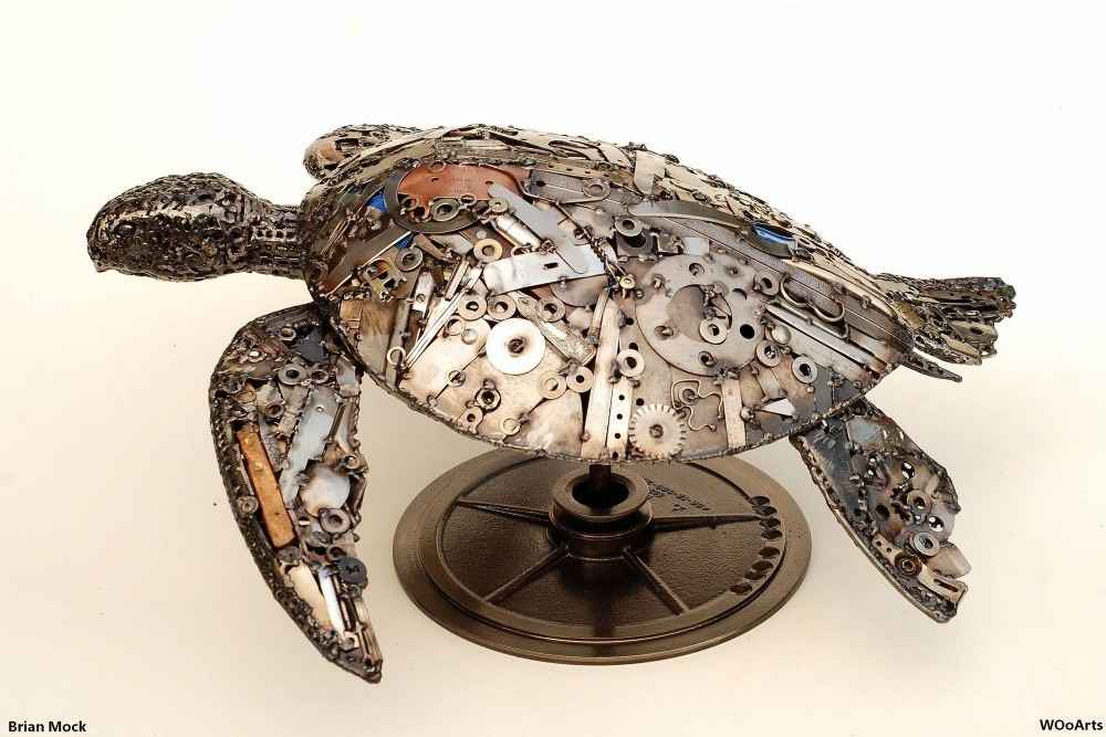 72 Recycled Metal Sculptures by American Sculptor Brian Mock