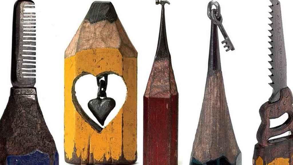 Dalton ghett sculptures on pencil