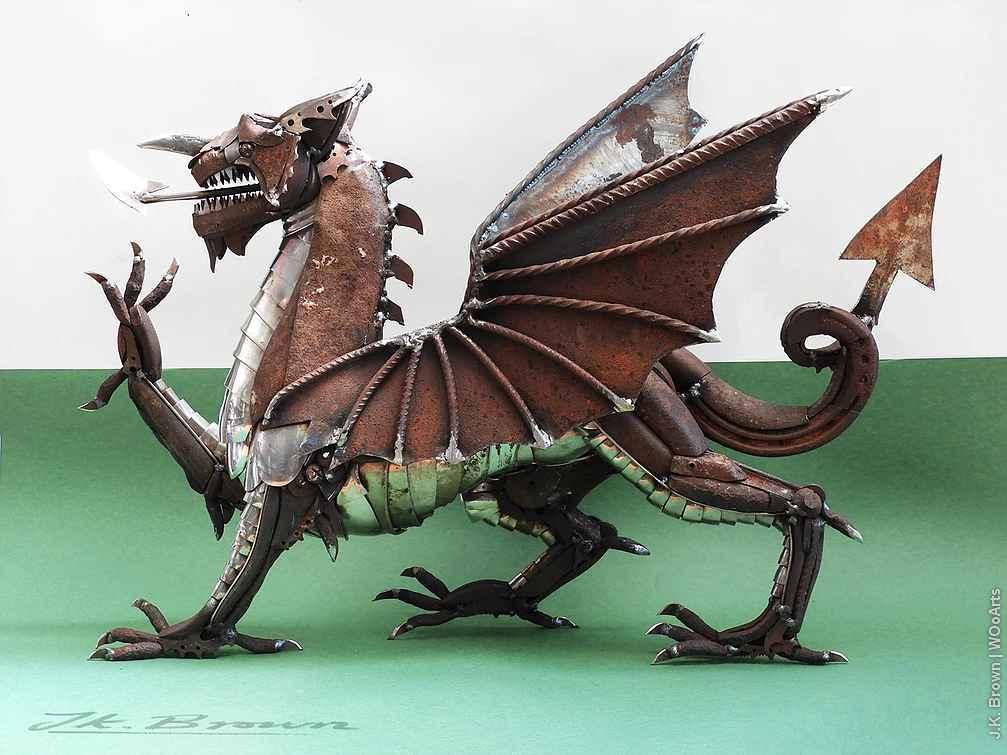 66 Amazing Scrap Metal Sculptures By British Sculptor J K  Brown