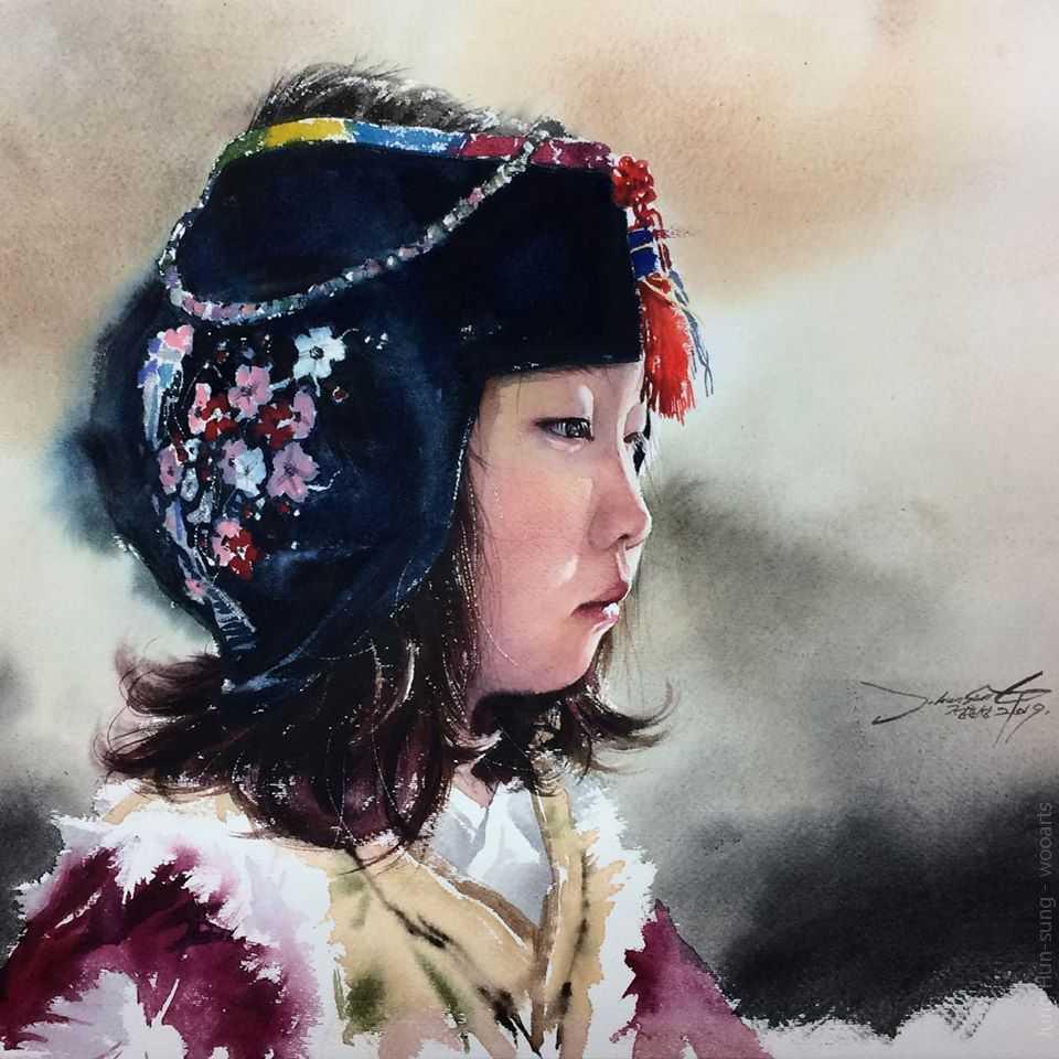 jung hun sungi watercolor painting wooarts 007