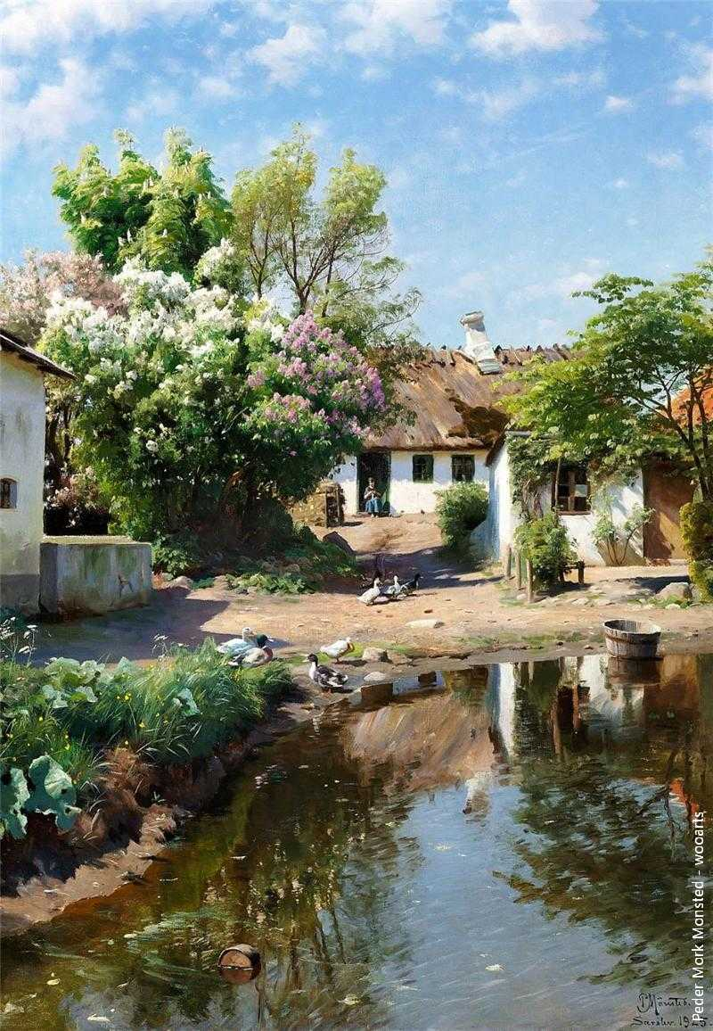 Peder Mork Monsted Painting