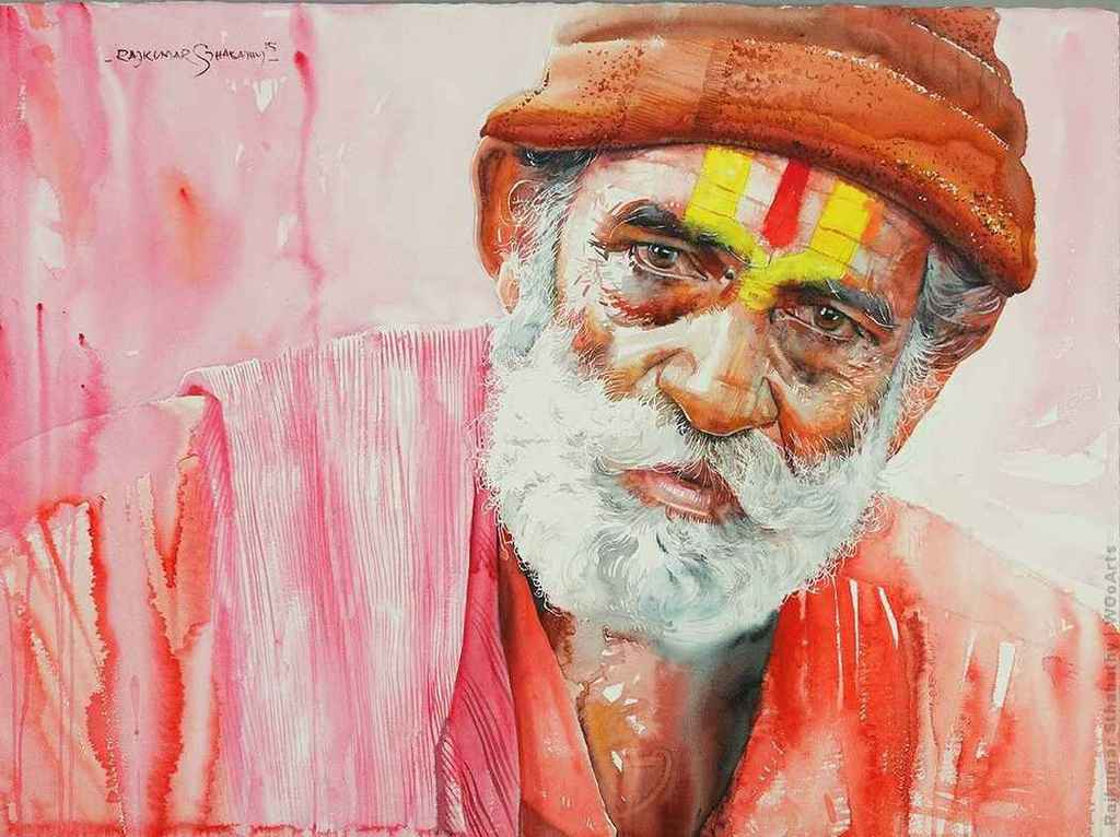 rajkumar-sthabathy-indian-watercolor-painting-wooarts-com-01