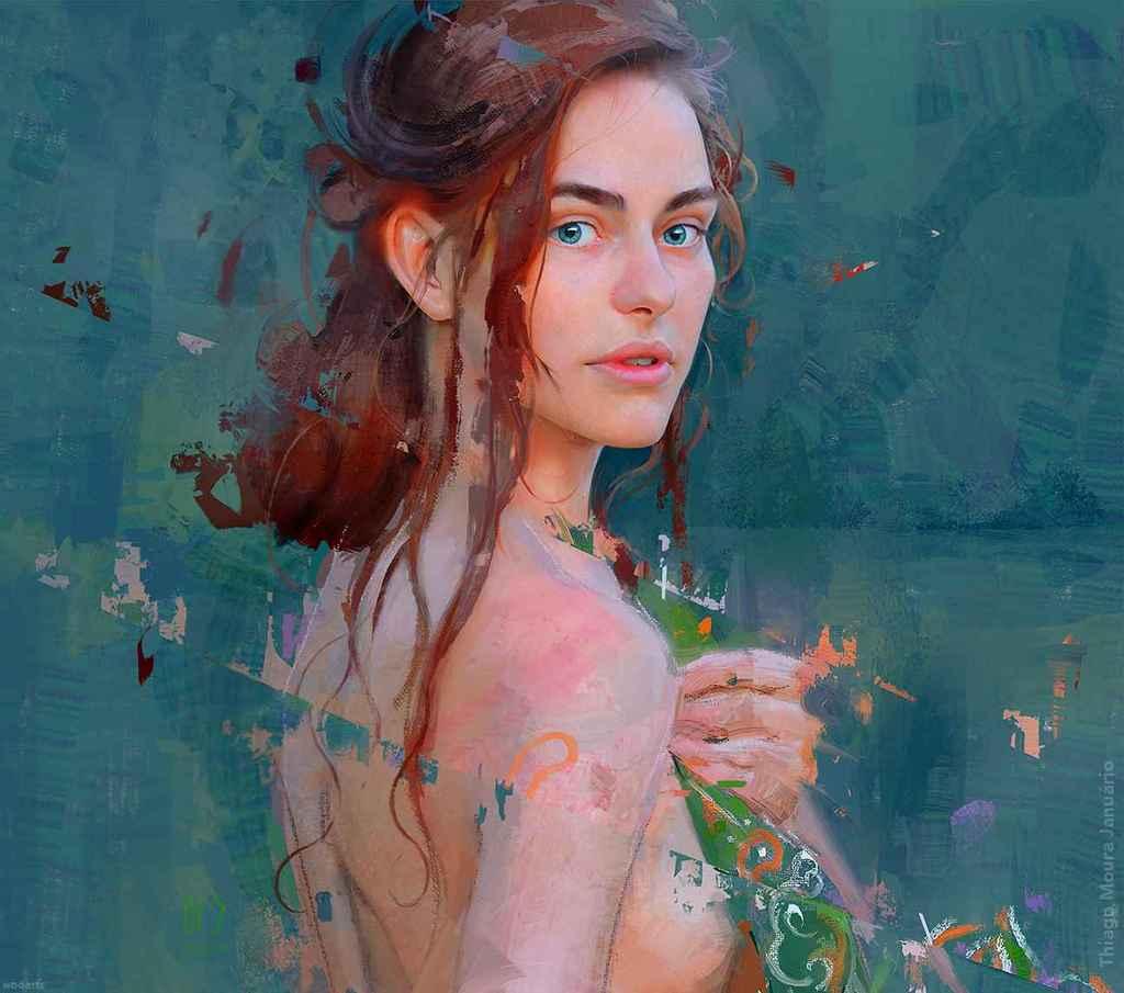 Painting by Artist Thiago Moura Januário