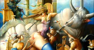 The Rape of Europa Surrealism Paintings by Oleg Osipoff wooarts