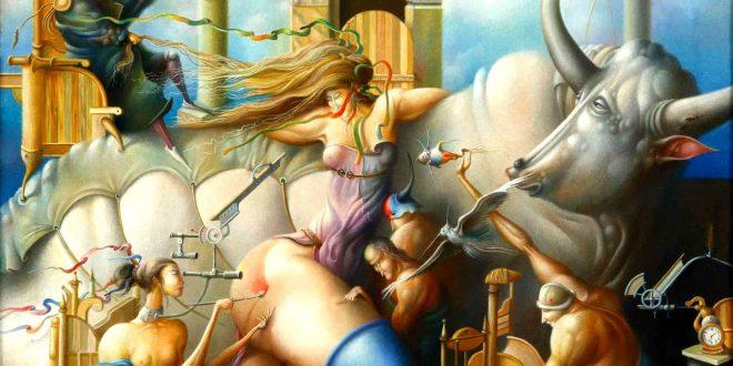 The Rape of Europa Surrealism Paintings by Oleg Osipoff wooarts